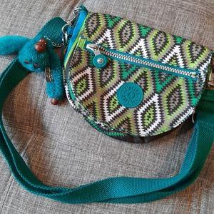 Kipling Rare Small Nylon Crossbody Bag w/ Monkey